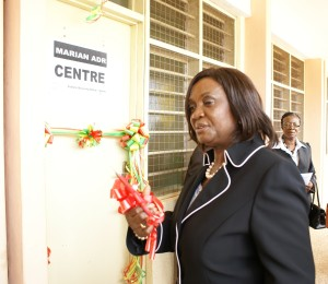 Ghana's head of justice ot the opening ot the Marian Conflict Resolution Centre
